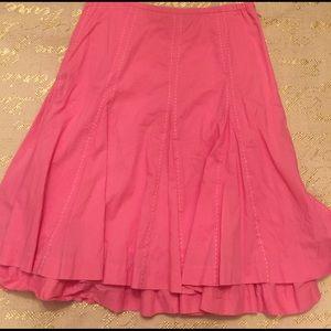 Garnet Hill Dresses & Skirts - Garnet Hill Pink Cotton Skirt