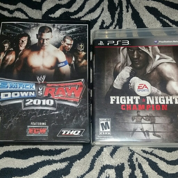 2 PS3 Games- WWE Smackdown Vs  Raw 2010 & Fight Ni