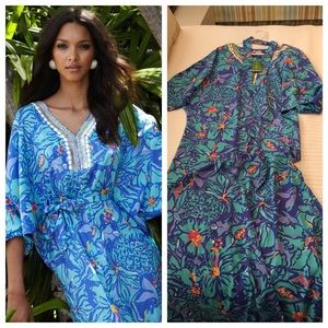 Lilly Pulitzer Dresses & Skirts - Lilly Pulitzer Wilda Caftan Maxi NWT in Mai Tai