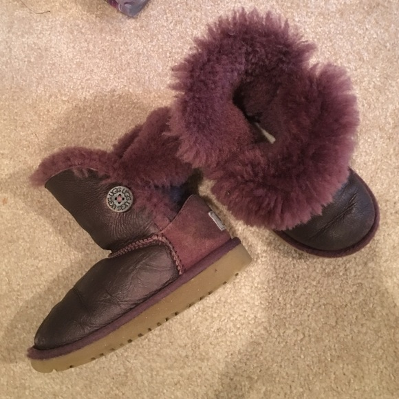 a48881fe209 UGG size 9 little kids two tone purple so cute!