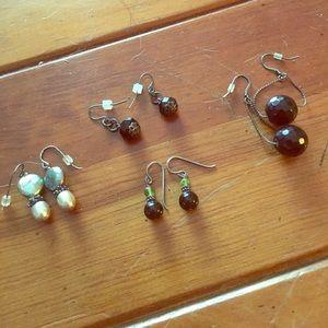 4 pair dangle earrings