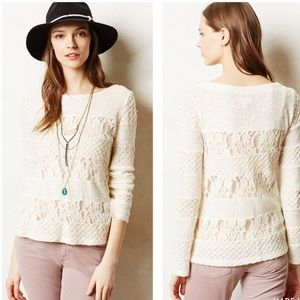 Lace Anthropologie Meadow Rue Acolyte Knit Top