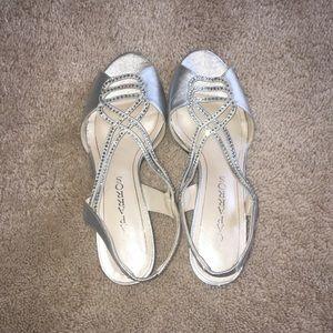 Caparros Shoes - Fancy Silver Kitten Heels