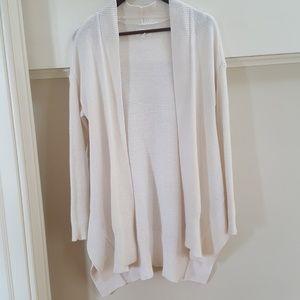 Lou & Grey White Knit Cardigan XS/S
