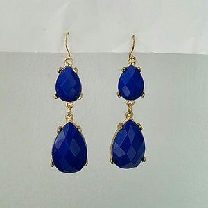 Jewelry - Royal blue dangle earrings.