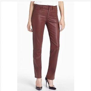NYDJ Denim - NYDJ High Rise SHERI Burgundy SKINNY Jeans! 8 x 30