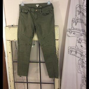 J.Crew stretch Army green straight leg jeans