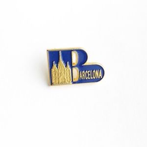 Vintage Accessories - Vintage Barcelona Enamel Pin