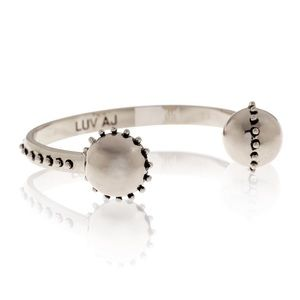 Luv AJ Jewelry - LUV AJ Silver Rococo Open Bangle Bracelet.