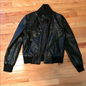 Urban Outfitters Faux Leather Bomber Jacket