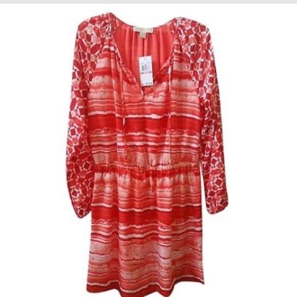 Michael Kors Dresses & Skirts - Host Pick Michael Kors Coral Boho Peasant Dress