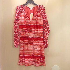 Michael Kors Dresses - Host Pick Michael Kors Coral Boho Peasant Dress