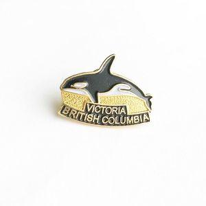 Vintage Accessories - Vintage Victoria British Columbia Enamel Pin