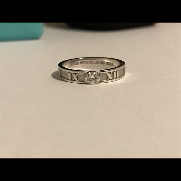 4136bb2d3 Tiffany & Co. Jewelry | Authentic Tiffany Co Atlas Ring Size 5 ...