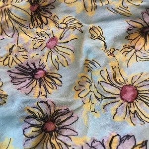 Betsey Johnson Accessories - Betsey Johnson floral scarf w/pom trim