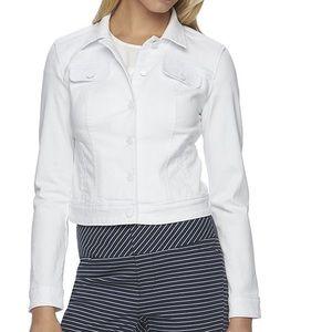 Elle Jackets & Blazers - Elle White Denim Jacket