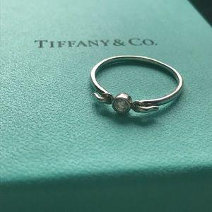 Tiffany & Co. Jewelry - Tiffany & Co. Sterling Silver Swan Ring w/ Diamond