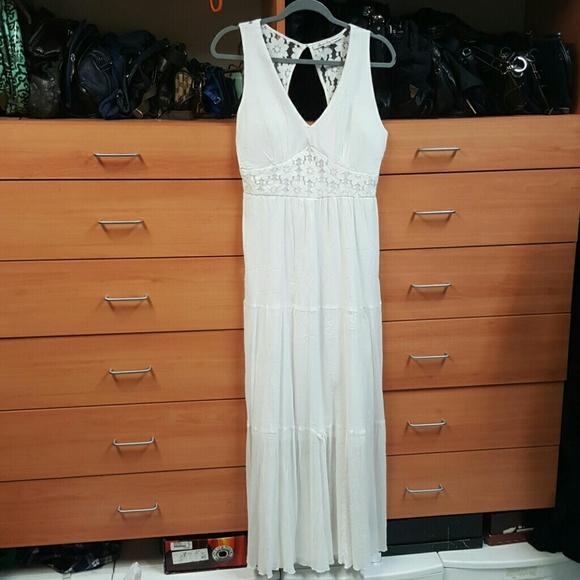 Dresses & Skirts - American Rag White Gauze Maxi Dress