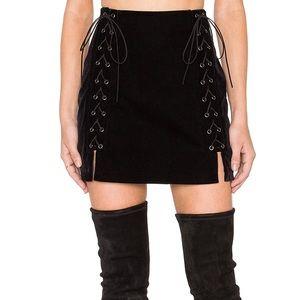 Free People Dresses & Skirts - Endless Rose Velvet Laced Mini Skirt