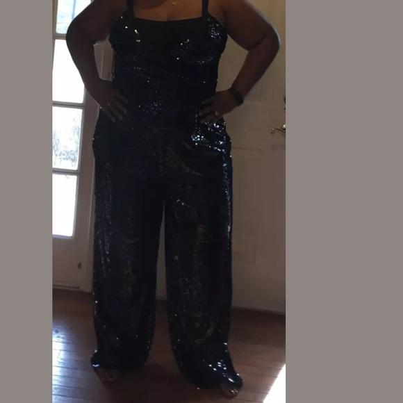 Boohoo Plus Dresses Black Sequin Jumpsuit Plus Size Poshmark