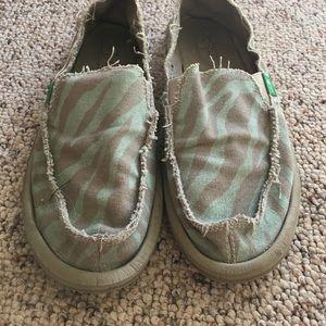 Sanuk Shoes - Zebra Print Sanuk Slip On Shoes
