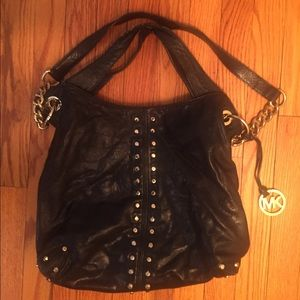 Michael Kors Handbags - Michael Kors Leather studed hobo