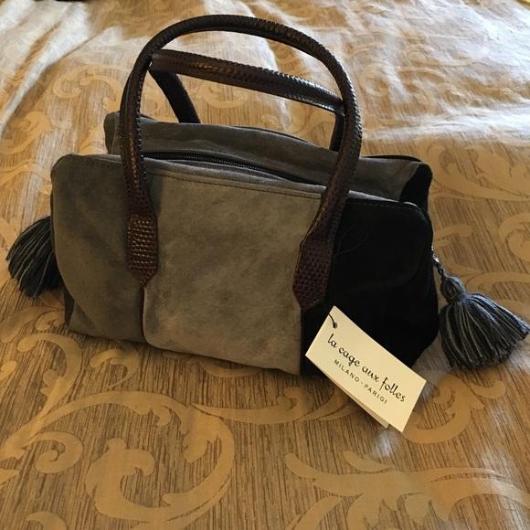 La Cage Aux Folles Bags   Leather Suede Milan Italy Purse   Poshmark 4946af2434