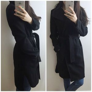 🆕 Black wrap coat