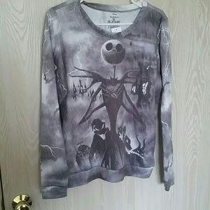 Disney Tops - Nightmare Before Christmas Skellington Sweatshirt