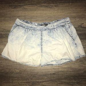 Rewash Pants - Rewash jeans acid wash shorts XL extra large