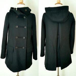 Zara Jackets & Blazers - ⬇BIG SALE⬇Zara Wool Hooded Coat