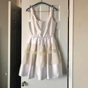 White dress ABS dress engagement wedding