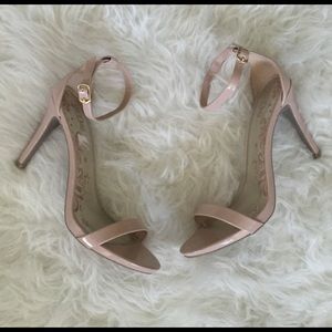 Nude Ankle Strap Heels!