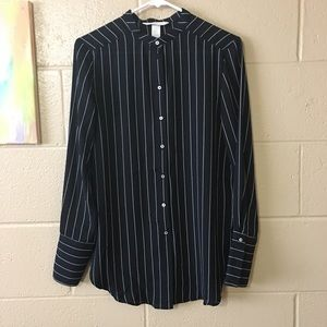 H&M striped button up blouse