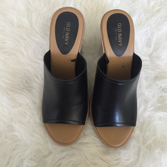 Old Navy Shoes - Old Navy Black Mules