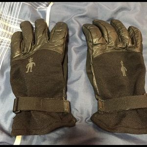 Other - Smart wool leather gloves