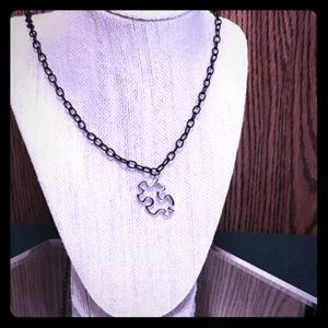Jewelry - Long Puzzle Piece Necklace