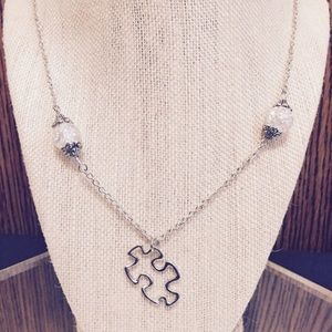 Jewelry - Puzzle Piece Crystal Necklace