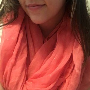 Accessories - Sparkly Coral scarf  💖