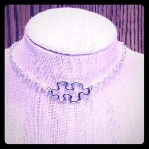 Puzzle Piece Choker Necklace