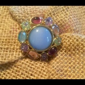 Jewelry - Estate Buy Vintage Pin With Precious Stones