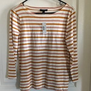 NWT J Crew Stripe Boatneck T-Shirt Size Small