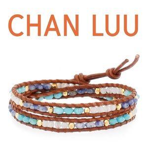 Chan Luu Jewelry - Chan Luu stone & leather wrap bracelet