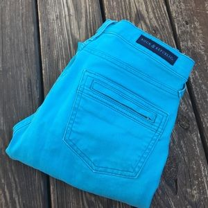 Rock & Republic Denim - Rock & Republic Turquoise Bomshell Skinny Jeans
