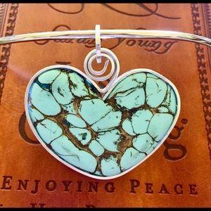Jewelry - Handmade Polymer Clay Heart Necklace