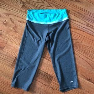 Champion Gray/Teal Crop Workout Pants