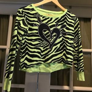 Justice Other - neon slouch sweatshirt