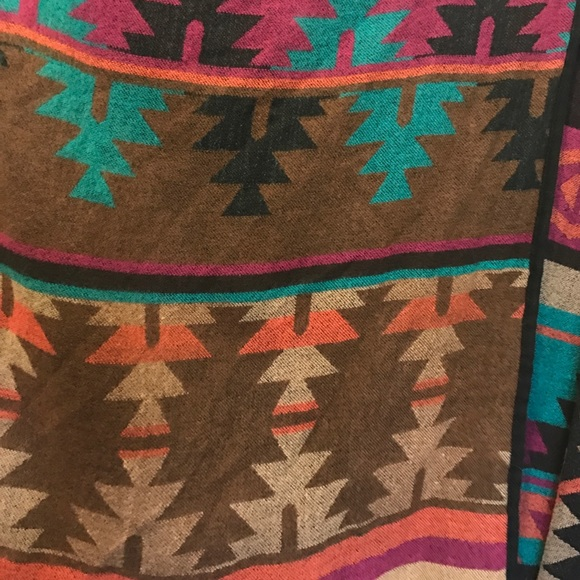 Saks Fifth Avenue Sweaters - Aztec print wrap poncho