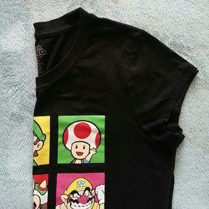 Nintendo Tops - Extra Large Black Super Mario Tee Shirt