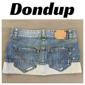 Dondup Dresses & Skirts - 💸DISTRESSED Dondup  Mini Denim Skirt in size 28